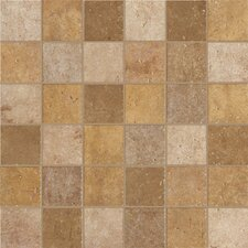 "Walnut Canyon 13"" x 13"" Decorative Square Mosaic in Golden"