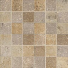 "<strong>Marazzi</strong> Walnut Canyon 13"" x 13"" Decorative Square Mosaic in Cream"