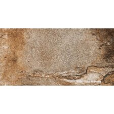 "Vesale Stone 10"" x 20"" Modular Tile in Rust"