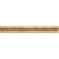 "<strong>Marazzi</strong> Romancing the Stone 13"" x 1.5"" Compressed Stone Chair Rail Tile Trim in Ivory"