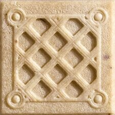 "Romancing the Stone 2"" x 2"" Compressed Stone Weave Insert in Ivory"