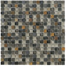 Crystal Stone II Glass Frosted Mosaic in Slate