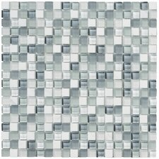 "Crystal Stone II 12"" x 12"" Glass Square Mosaic in Pearl"