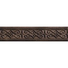 "Romancing the Stone 13"" x 3"" Compressed Stone Renaissance Border Tile Trim in Noce"