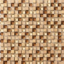 "Crystal Stone 12"" x 12"" Glass/Stone Mosaic in Caramel"