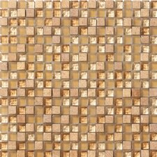 "Crystal Stone 12"" x 12"" Glass/Stone Mosaic in Honey"
