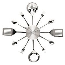 Silverware Utensils Wall Clock