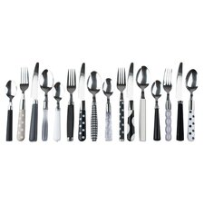 16 Piece Mix and Match Cutlery Set in Black and White