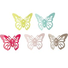 <strong>PresenTime</strong> 5 Piece Butterfly Jewellery Hooks