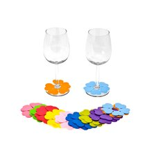 20 Piece Spring Flower Glass Marker Set