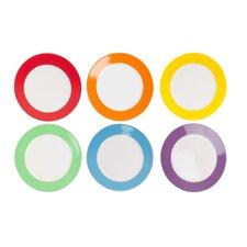 6 Piece Rainbow Breakfast Plate Set