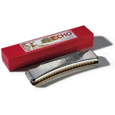 Echo 40 Octave Tuned Harmonica in Chrome - Key of C