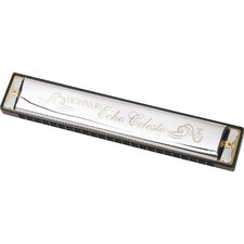 <strong>Hohner</strong> Echo Celeste Harmonica in Chrome - Key of Eb