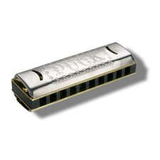 Puck Harmonica in Chrome - Key of G