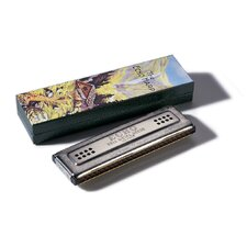 "Echo 6.63"" Tremolo Harmonica in Chrome - Key of A / D"