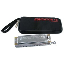 Educator 10 Harmonica in Chrome - Key of C