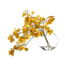 Aspen Leaf Spray Tree in Decorative Vase