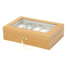 Logan Glass Top Watch Box in Bamboo