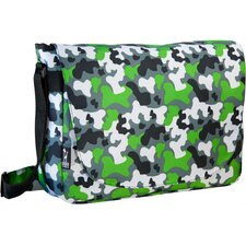 Ashley Camo Laptop Messenger Bag