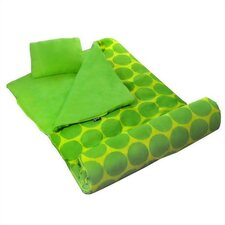 Big Dots Sleeping Bag in Green