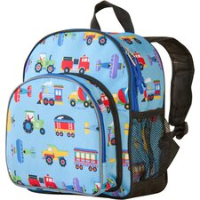 Train, Planes and Trucks Olive Kids Pack'n Snack Backpack