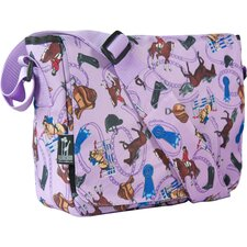 English Riding in Purple Kickstart Messenger Bag