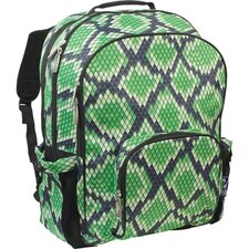 Solid Colors Snake Skin Straight-Up Macropak Backpack