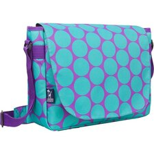 Big Dots Aqua Laptop Messenger Bag