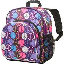 Peace Signs Purple Pack 'n Snack Backpack