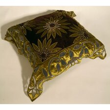 One Sided Green Cushion Cover
