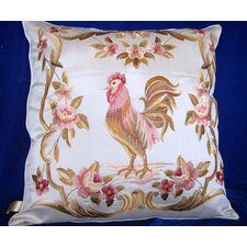 Rooster Embroidered Cushion Cover