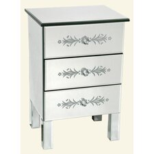 Three Drawers Mirrored Cabinet