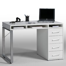 4 Drawer Writing Desk with 3 Storage Compartments