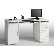 4 Drawer Computer Desk with 3 Storage Compartments