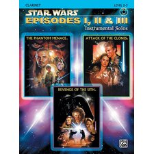 Star Wars: Episodes I, II and III Instrumental Solos (Book and CD)