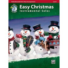 Easy Christmas Instrumental Solos, Level 1 for Strings: Violin (Book and CD)