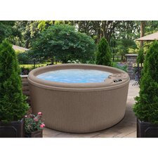 4-Person 10-Jet Round Bench Spa with Easy Plug-N-Play System