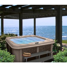 ahb13285 Person 30-Jet Lounger Spa with Easy Plug-N-Play and LED Waterfall