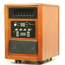<strong>Dr. Infrared Heater</strong> 1,500 Watt Infrared Cabinet Space Heater with Adjustable Thermostat