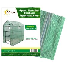 Ogrow 2 Tier 8 Shelf Greenhouse PE Replacement Cover