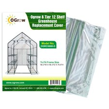 Ogrow 6 Tier 12 Shelf Greenhouse Replacement Cover