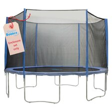 15' 31 Piece Round Trampoline Enclosure Set for 3/6 W Legs