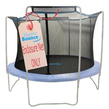 14' Trampoline Enclosure Safety Net Fits For 14 FT. Round Frames Using 4 Arches, with Sleeves on top (poles not included)