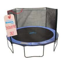12' Trampoline net using 4 Straight Poles