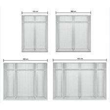 Kick Sliding Door Wardrobe in White