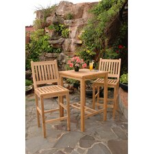 <strong>Anderson Teak</strong> Avalon 3 Piece Bar Height Dining Set