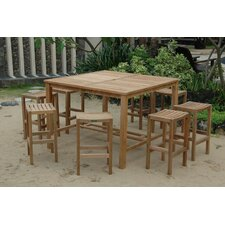 Windsor 9 Piece Bar Height Dining Set