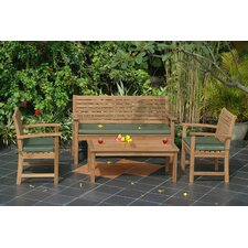 <strong>Anderson Teak</strong> Montage 4 Piece Bench Seating Group
