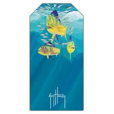 Guy Harvey Dolphin Trio Beach Towel