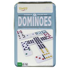 Double 9 Dominoes Game in Tin Case